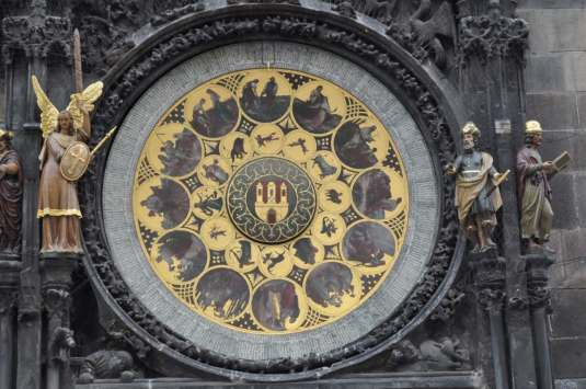 Bottom round of Prague Astronomical clock